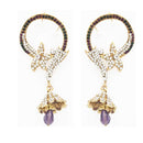 Soha Fashion Multi Austrian Stone Ear Cuff Earrings