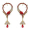 Kriaa Red Austrian Stone Ear Cuff Earrings