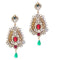 Soha Fashion Red Stone Kundan Pearl Dangler Earrings