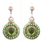 Urthn Green Pearl Austrian Stone Gold Plated Dangler Earrings