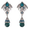 Kriaa Rhodium Plated Blue Austrian Stone Dangler Earrings