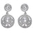 Kriaa White Austrian Stone Rhodium Plated Dangler Earrings