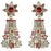 Soha Fashion Stone Gold Plated Floral Dangler Earrings