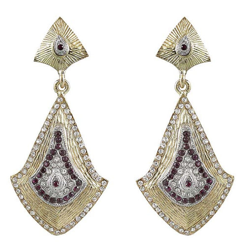 Soha Fashion Austrian Stone Gold Plated Dangler Earrings