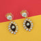 The99Jewel Red Austrian Stone Gold Plated Earrings  - EB