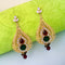 Kriaa Kundan Gold Plated Austrian Stone Dangler Earrings