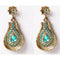 Kriaa Gold Plated Blue Kundan Austrian Stone Dangler Earrings