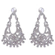 Kriaa Rhodium Plated Austrian Stone Dangler Earrings