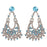 Kriaa Austrian Stone Silver Plated Dangler Earrings