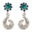 Kriaa Blue And Green Austrian Stone Dangler Earrings