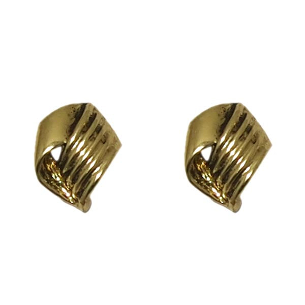 Kriaa Antique Gold Plated  Stud Earrings