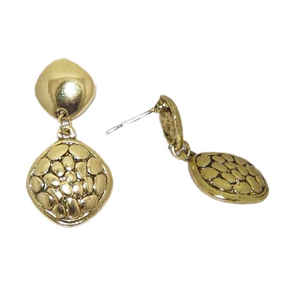 Jeweljunk Antique Gold Plated Studs Earrings