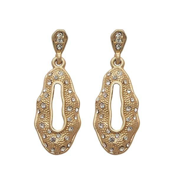 Beadside Austrian Stone Gold Plated Dangler Earrings
