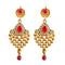 Kriaa Austrian Stone Pink Gold Plated Earrings