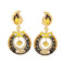 Kriaa Black Meenakari Austrian Stone Dangler Earrings