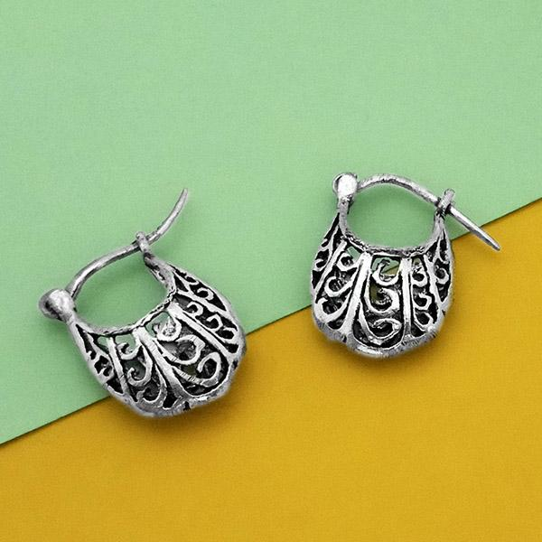 Jeweljunk Oxidised Plated Stud Earrings - N1304730