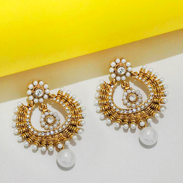 Kriaa Austrian Stone Chandbali Earrings