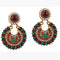 Kriaa Pearl Multicolor Pota Stone Dangler Earrings