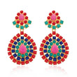 Kriaa Multicolor Pota Stone Dangler Earrings