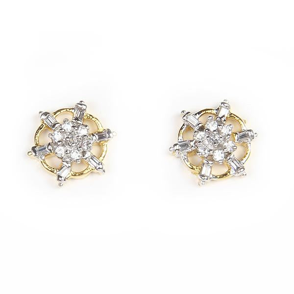 Kriaa Ad Stone Gold Plated Stud Earrings - 1305104