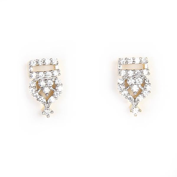 Kriaa Ad Stone Gold Plated Stud Earrings - 1305108