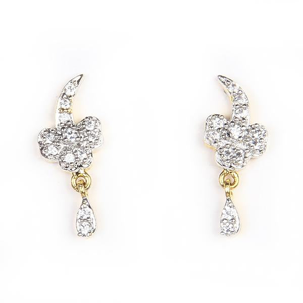 Kriaa Ad Stone Gold Plated Stud Earrings - 1305109