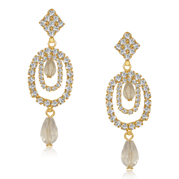 Eugenia Austrian Stone Gold Plated Drop Dangler Earrings