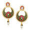 Kriaa Kundan Meenakari Gold Plated Chandbali Earrings