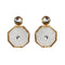 Kriaa Gold Plated Kundan Resin Dangler Earrings