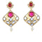 Kriaa Stone Meenakari Gold Plated Dangler Earrings