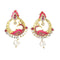 Kriaa Meenakari Gold Plated Austrian Stone Peacock Earrings