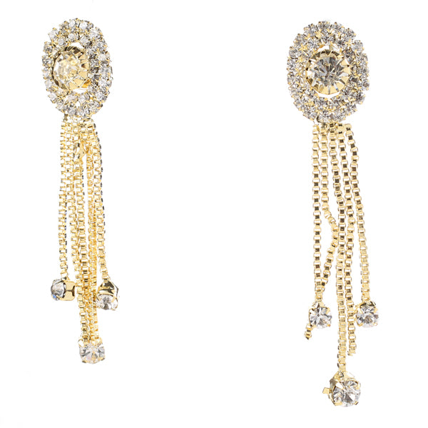 Eugenia Gold Plated Austrian Stone Dangler Earrings