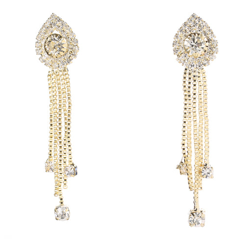 Eugenia Austrian Stone Gold Plated Dangle Earrings