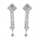 Eugenia Silver Plated Austrian Stone Dangler Earrings