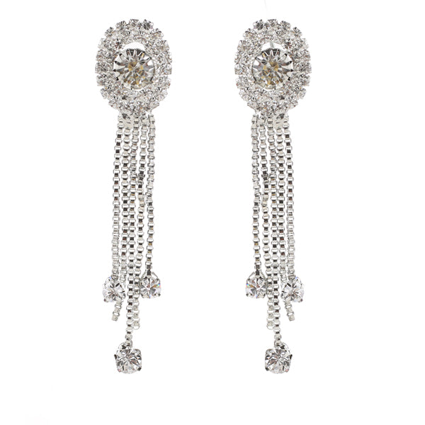 Eugenia Austrian Stone Rhodium Plated Dangler Earrings