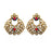 Kriaa Kundan Gold Plated Dangler Earrings