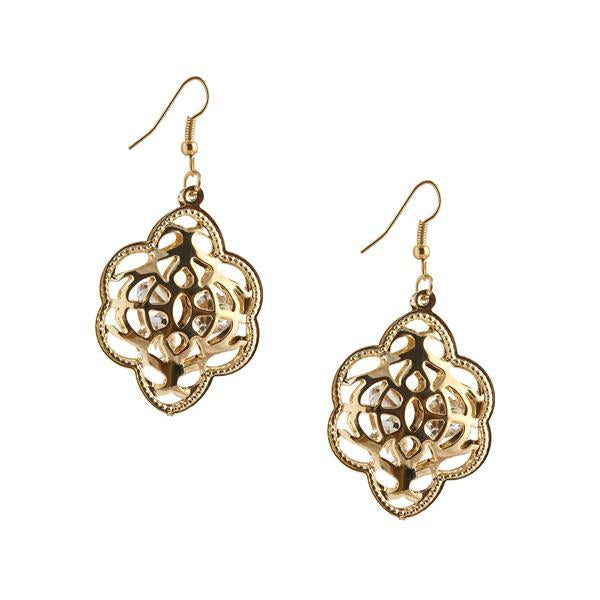 The99Jewel Gold Plated Austrian Stone Dangler Earrings  - 1306426 - AS