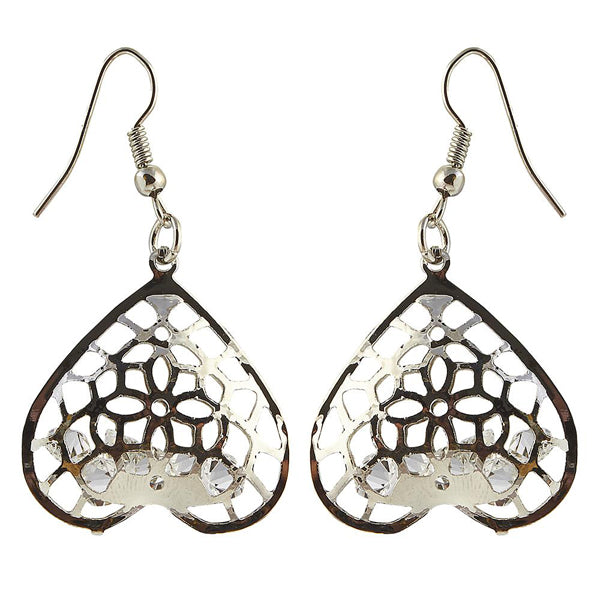The99Jewel Silver Plated Austrian Stone Dangle Earrings