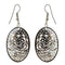 The99Jewel Austrian Stone Rhodium Plated Dangler Earrings - 1306432 - FS