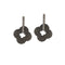 The99Jewel Marcasite Stone Black Stud Earrings