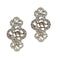 Kriaa Rhodium Plated Stone Dangler Earrings