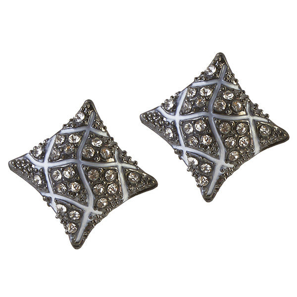 The99Jewel Austrian Stone Oxidised Stud Earrings