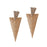 Urbana Austrian Stone Gold Plated  Dangler Earrings