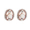 Urbana Austrian Stone Rose Gold Plated Pearl Stud Earrings