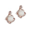 Urbana Pearl Austrian Stone Rose Gold Plated Stud Earrings