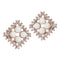 Urbana White Pearl Stone Gold Plated Stud Earrings