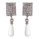 Urbana Glass Pearl Austrian Stone Dangler Earrings