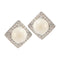Kriaa White Pearl Stone Silver Plated Stud Earrings