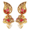 Kriaa Pink Austrian Stone Gold Plated Jhumki Earrings
