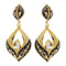 Aurum Meenakari Gold Plated Kundan Dangler Earrings